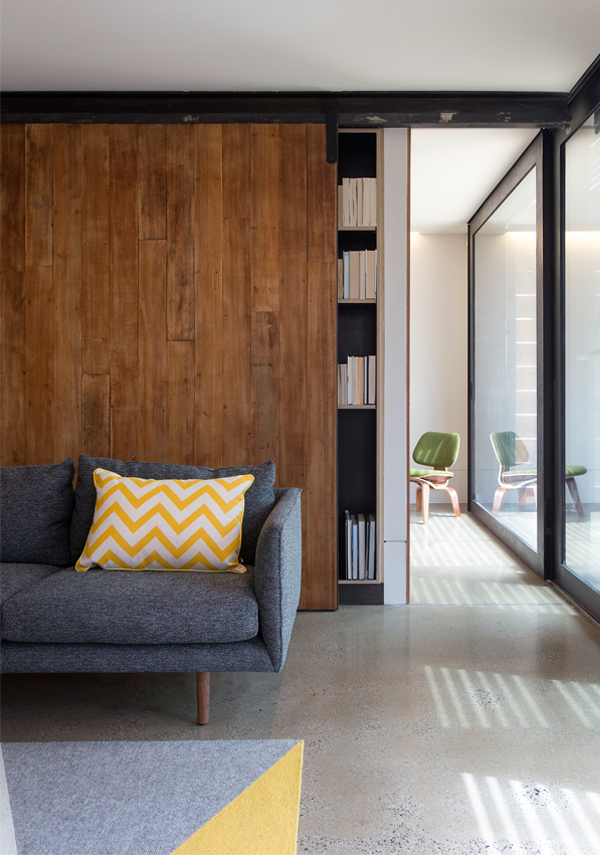 Stonewood. A sliding panel reveals a dedicated composing room. Photo: Andrew Wuttke.