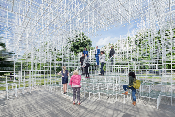 Serpentine Gallery Pavilion 2013 designed by Sou Fujimoto. Photograph courtesy of Iwan Baan