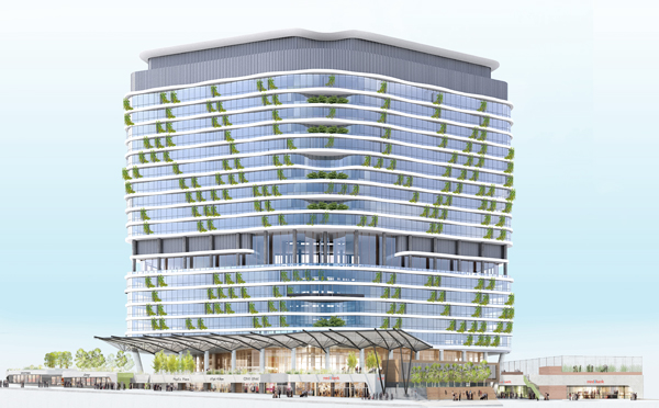 HASSELL's new 6 Green Star contribution to the Melbourne Docklands landscape.