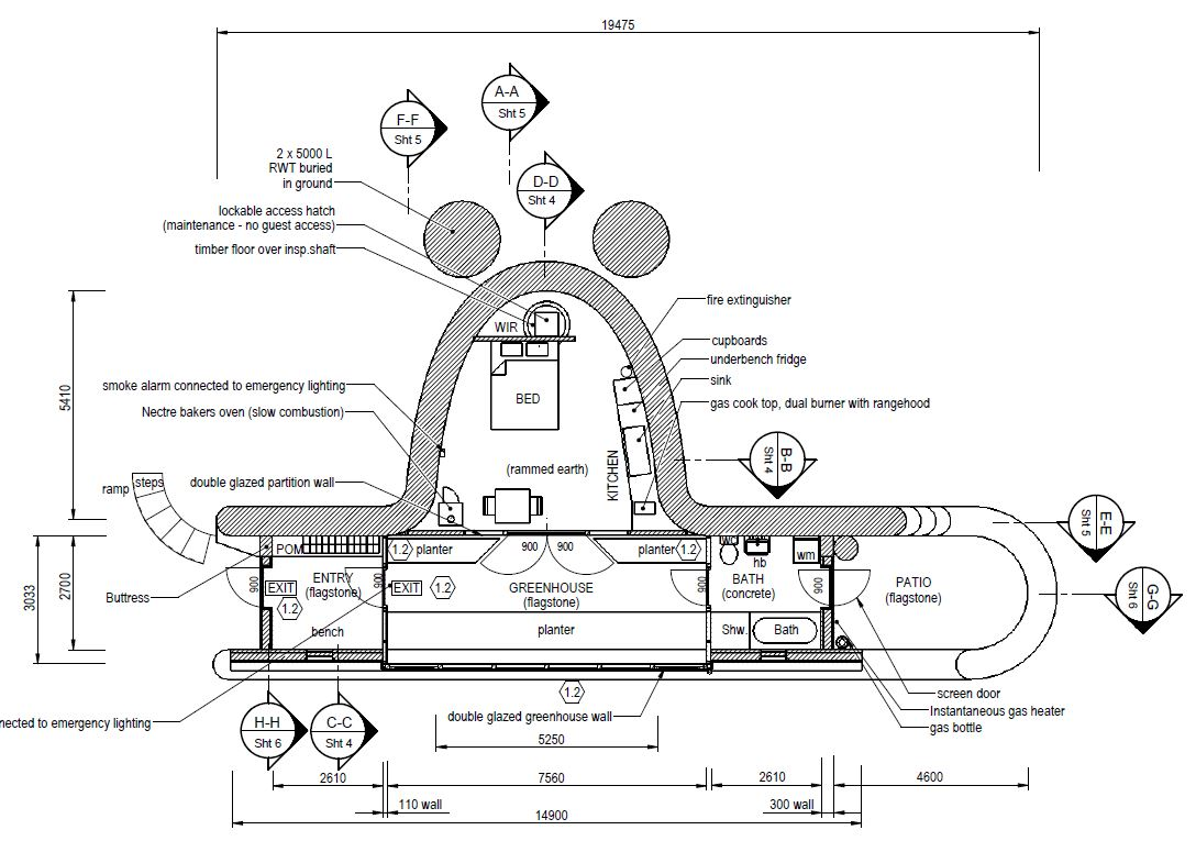 Ironbank Earthship Floorplan