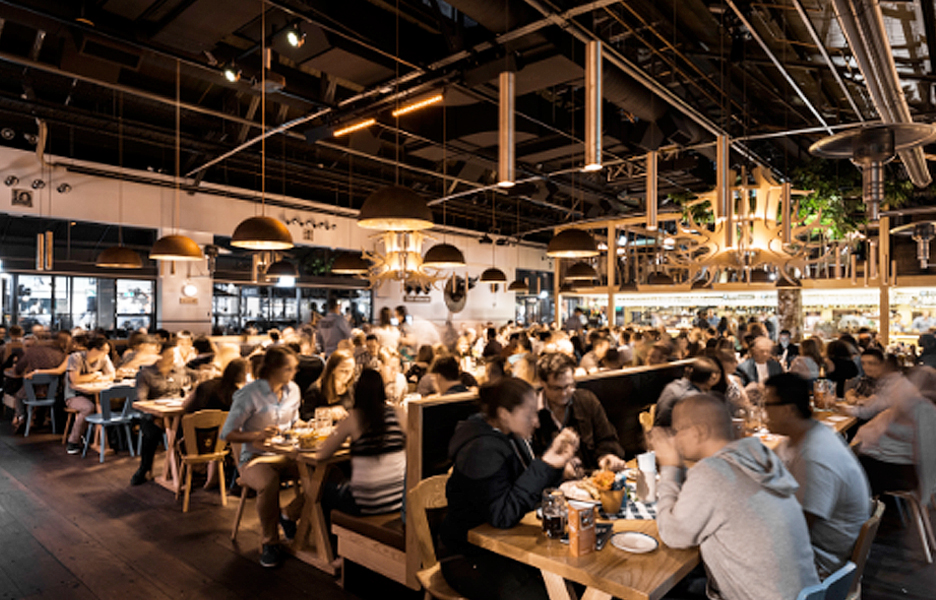 a bavarian beer hall in the most unlikely of places australian design review. Black Bedroom Furniture Sets. Home Design Ideas