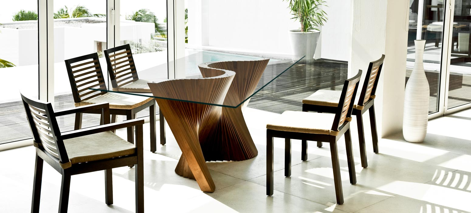 The Wave Table Creates An Organic Curve, Bringing A Gentle Dynamism To The  Dining Room