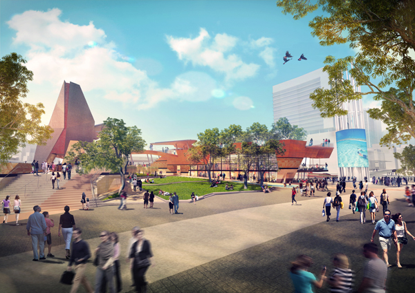 Yagan Square, Perth City Link by ASPECT Studios in colaboration with Lyons and iredale pedersen hook architects