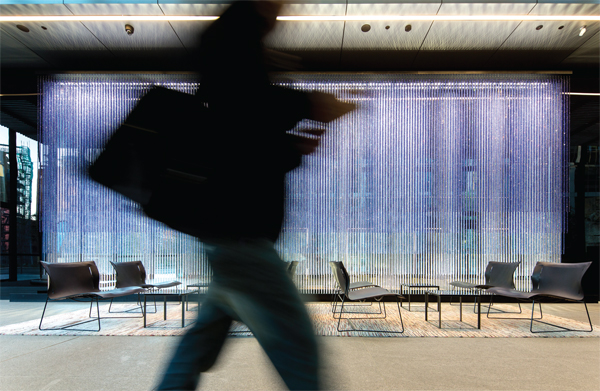 Artistic spaces are both inviting and invigorating for users and passers-by