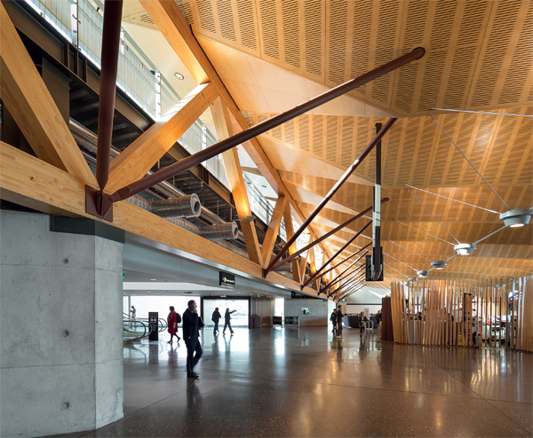 Vaulted ceilings reference the mountainous landscape, endorsing a sense of the monumental.