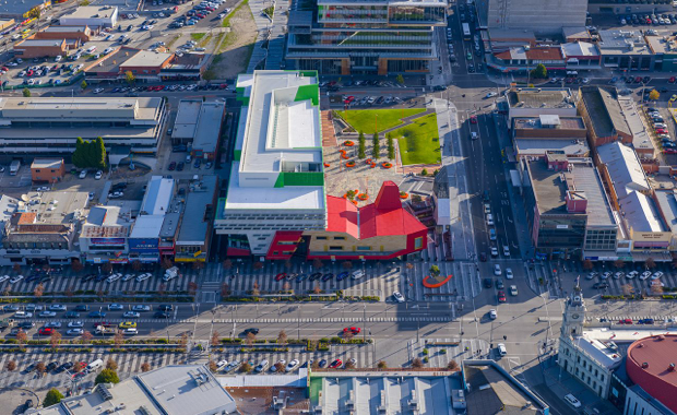 New Municipal Building & Civic Square in Dandenong, image courtesy Lyons Architecture