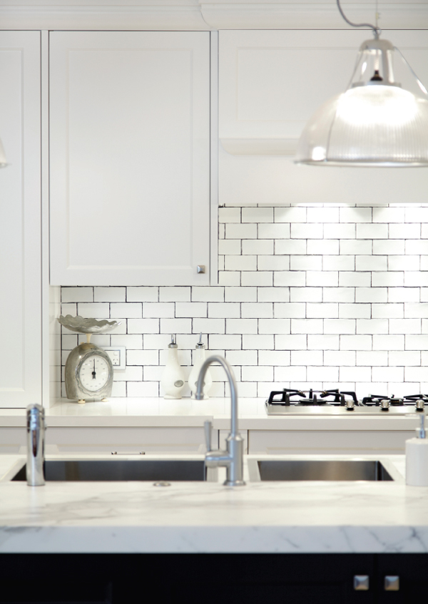 This kitchen designed by Art of Kitchens is a blend of modern and traditional, one of the trends their clients prefer.
