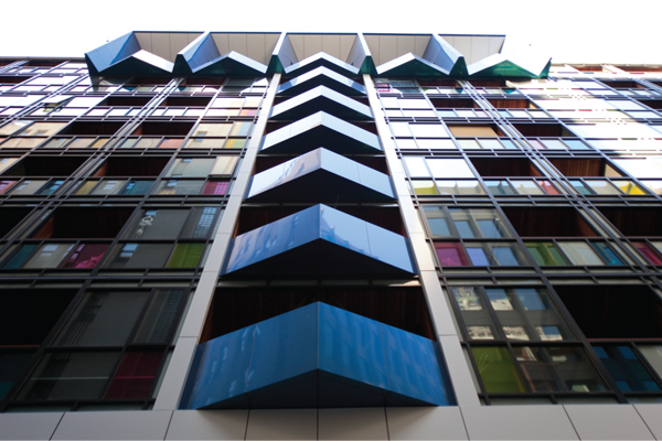 The Little Hero apartments, designed by Fender Katsalidis with Hickory Construction