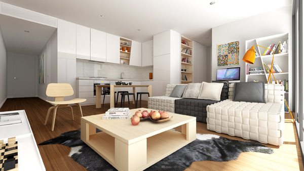 Interior of Six Thiele Apartments, which has been shortlisted in IDEA 2015.