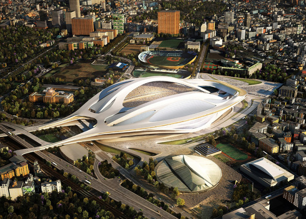 Hadid's original 2012 design, a more sculptural and grand statement than its watered down 2014 adaptation
