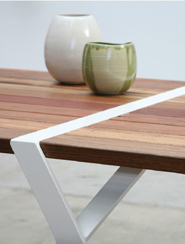 Flint table and bench by Ross Gardam for Tait.