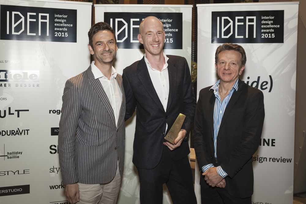 Mark Simpson and Damien Mulvihill of DesignOffice with Carlo Pagoda from Academy of Design