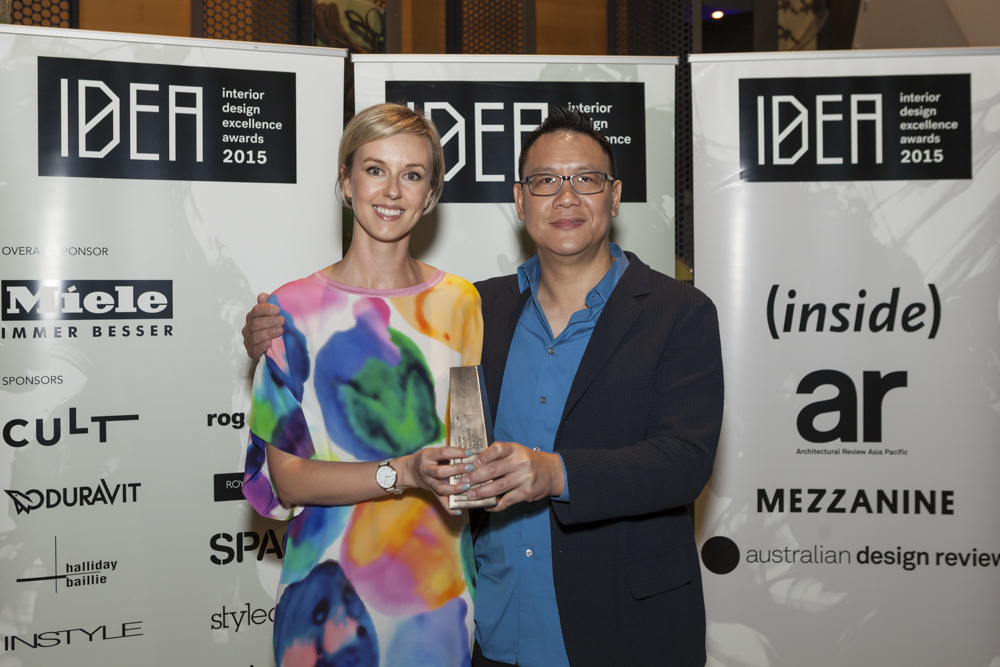 Tony Chenchow with Sarah Pattison from Stylecraft
