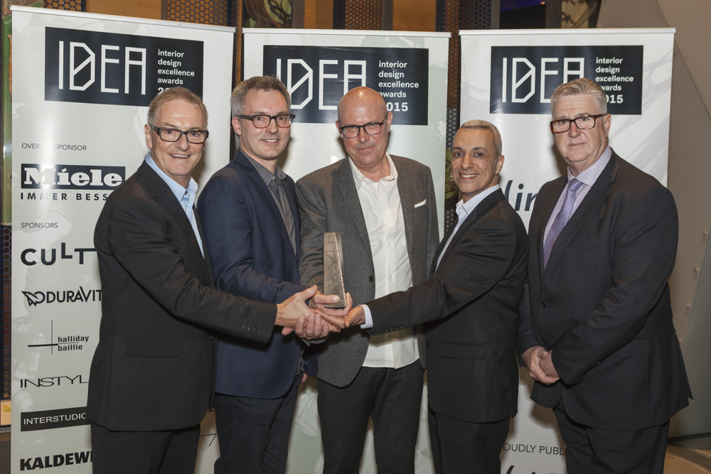 Overall and Public Space winners John Wardle Architects with Ross Evans of Miele