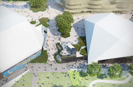 Plans for adelaide festival plaza revealed by sa for Landscape architects in adelaide