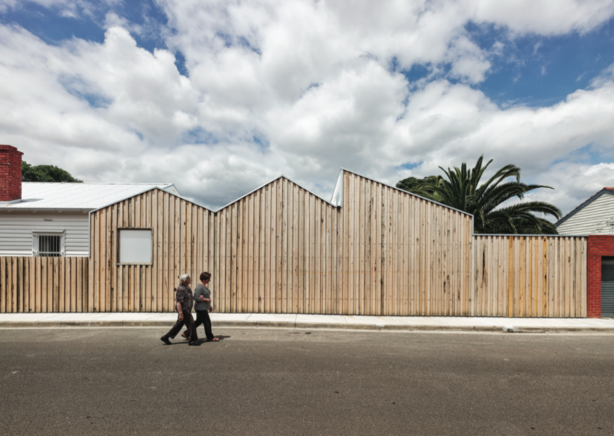 The timber façade of Profile House, photo by Peter Bennetts.