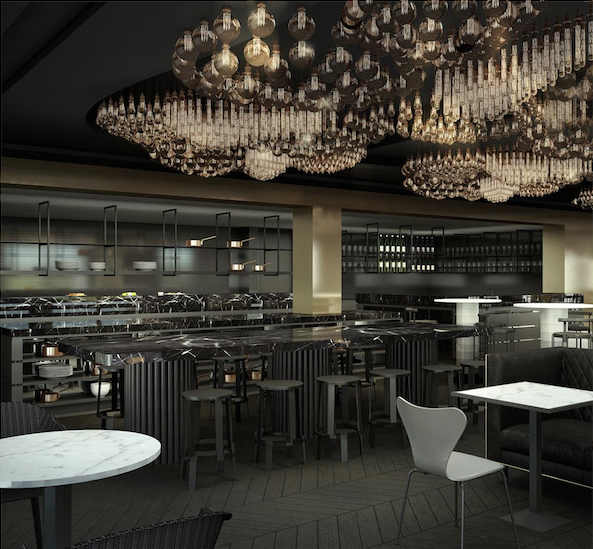 Carr Design Group's Willow Creek Winery restaurant, render courtesy Carr Design Group.
