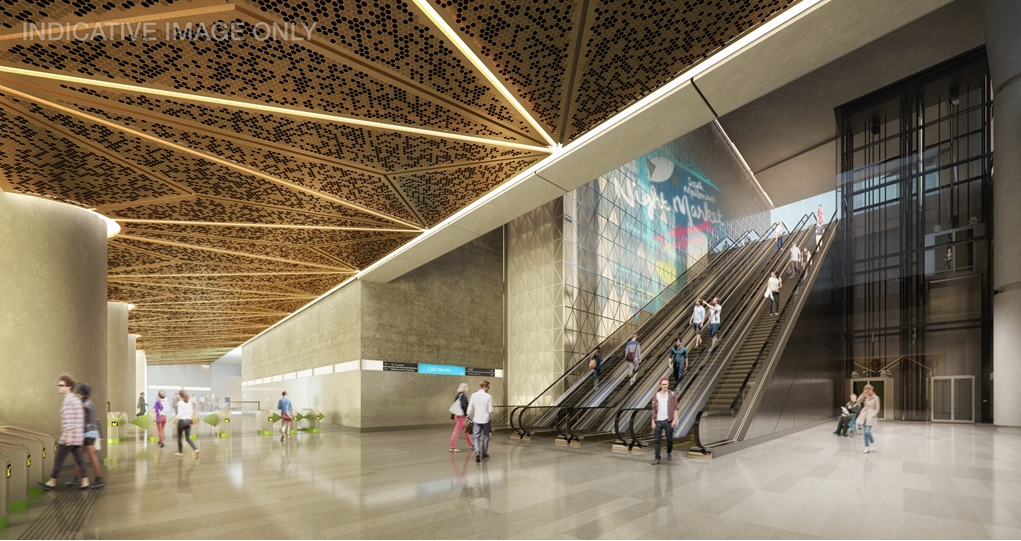 CBD North Station render, courtesy Grimshaw Architects/Melbourne Metro Rail.
