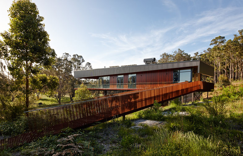 Nannup Holiday House by iredale pedersen hook architects. Photo courtesy iredale pedersen hook architects.
