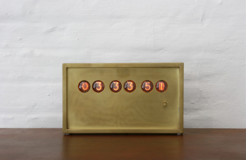 BDDW Nixie Desk Clock, image courtesy BDDW.