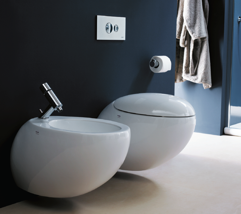 Laufen's Ilbagnoalessi toilet and bidet available from Reece