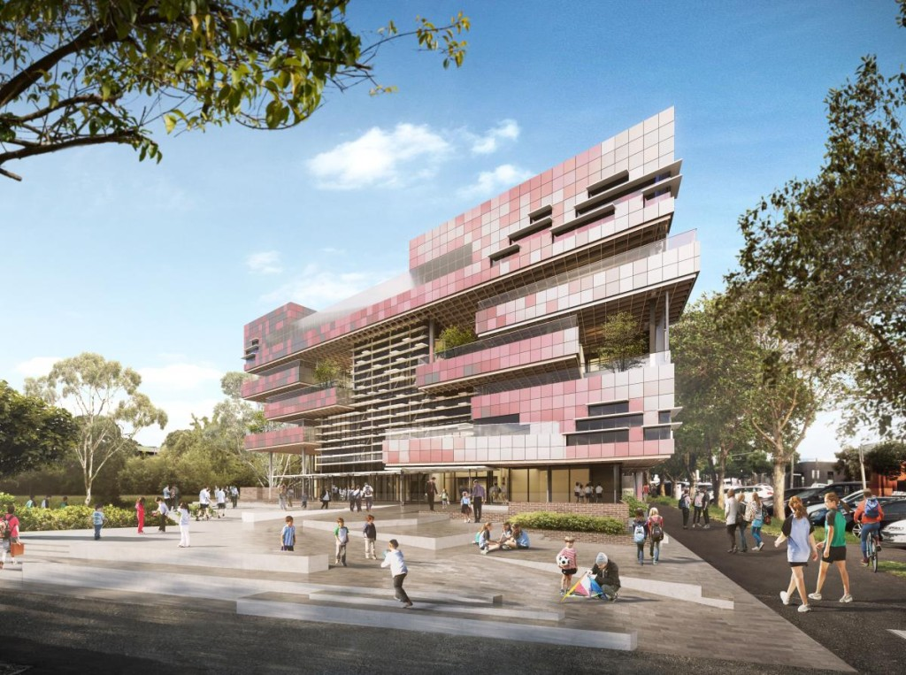 South Melbourne Primary School, by Hayball. Render courtesy Hayball.