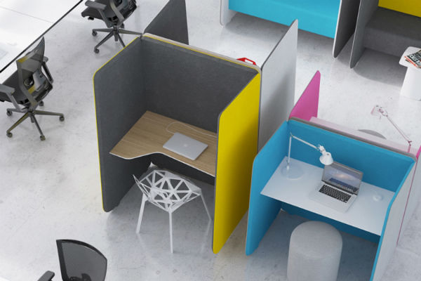 Nook desk system by AWM.