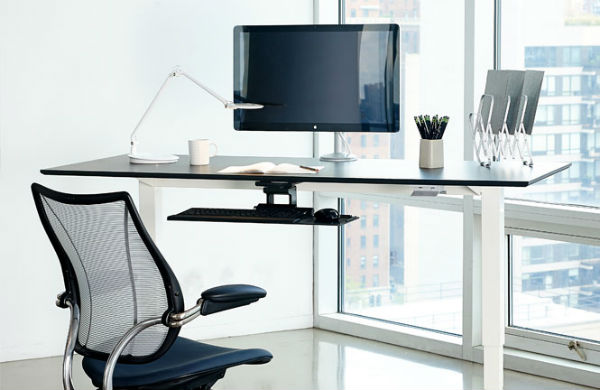 Float desk by Humanscale.