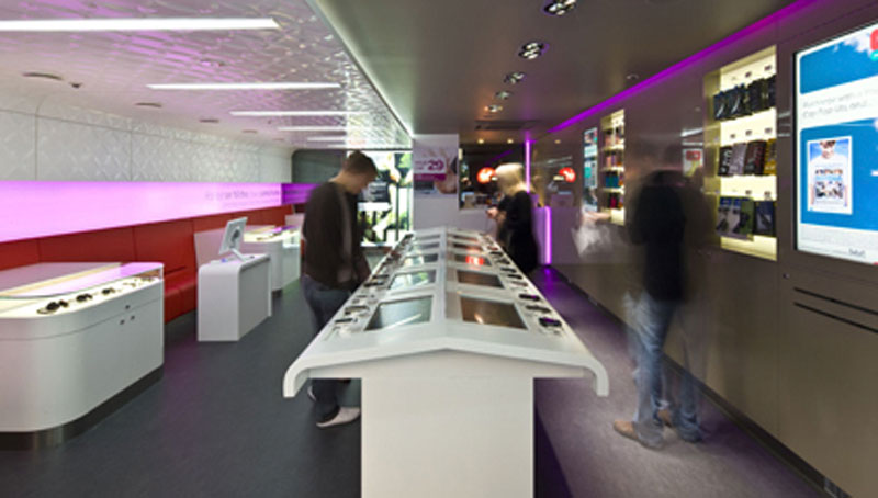 Interior Design Virgin Mobile Retail Store