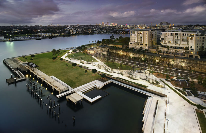 The new park at the former water police site australian for Landscape design jobs sydney